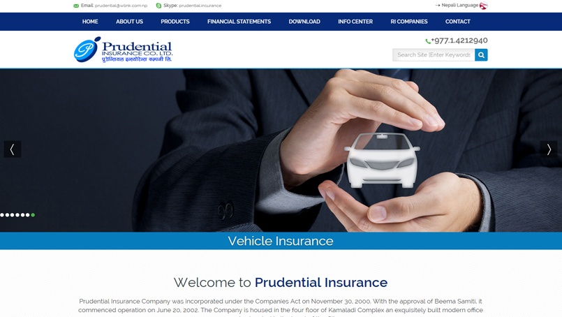 Insurance Company Nepal Website